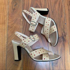 Marc Jacobs Red Polka Dot Heeled Sandals